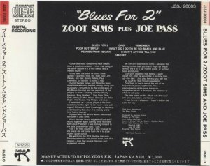 Zoot Sims And Joe Pass - Blues For Two (1983)