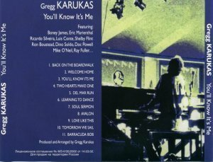 Gregg Karukas - You'll Know it's Me (1995)