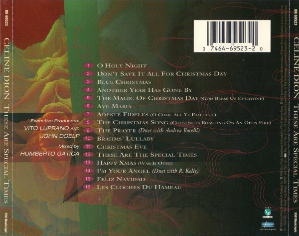 Celine Dion - These Are Special Times (1998) » Lossless music download   flac ape wav