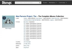 The Alan Parsons Project - The Complete Albums Collection [11CD] (2014)