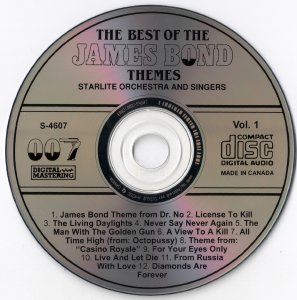 Starlite Orchestra And Singers - The Best Of The James Bond Themes Vol.1 & Vol.2