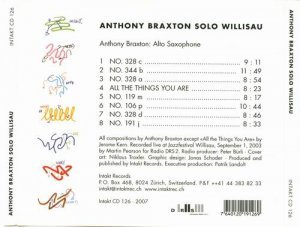 Anthony Braxton - Solo Willisau (2003)