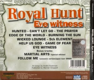 Royal Hunt - Eye Witness (2003)
