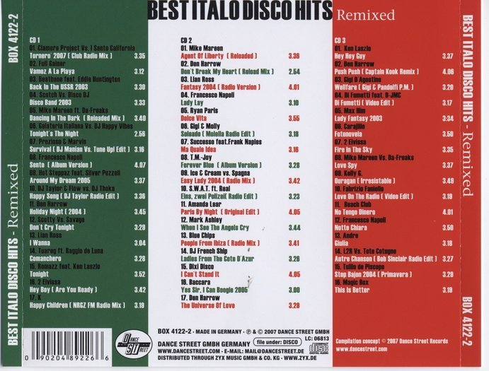 VA - Best Italo Disco Hits Remixed 3CD (2007) » Lossless