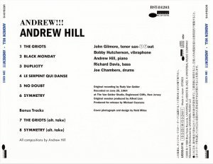 Andrew Hill - Andrew!!! (1964) [2015 Japan SHM-CD 24-192 Remaster]