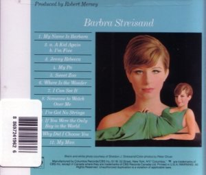 Barbra Streisand - My Name Is Barbra (1965) [1994]