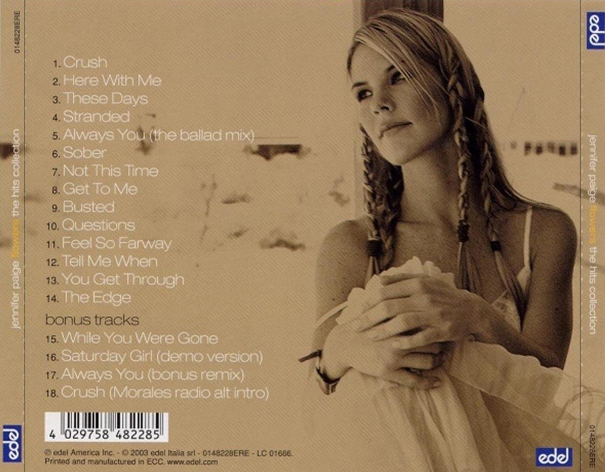 Jennifer Paige Flowers The Hits Collection 2003 Lossless music downloa