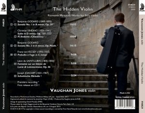 Vaughan Jones - The Hidden Violin: Romantic Virtuoso Works for Solo Violin (2014) [HDTracks]