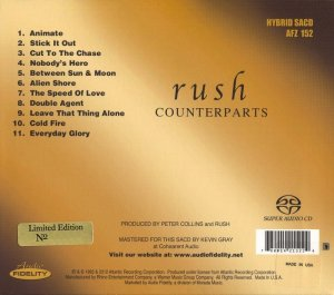 Rush - Counterparts (1993) [Audio Fidelity SACD 2013] PS3 ISO + HDTracks
