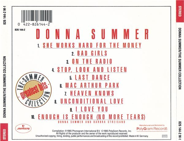 Donna Summer - The Summer Collection (1985) » Lossless music