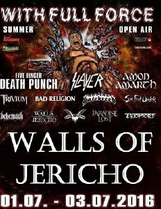 Walls of Jericho - With Full Force Festival XXIII (2016) [HDTV 720p]