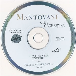 Mantovani & His Orchestra - Long Play Collection/ Four Hit Albums (3CD Box Set 2010)