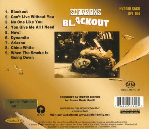 Scorpions - Blackout (1982) [Audio Fidelity SACD 2014] PS3 ISO + HDTracks