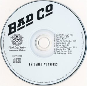 Bad Company - Extended Versions (2011)