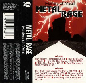 VA - Masters Of Metal - Metal Rage (1986) LP