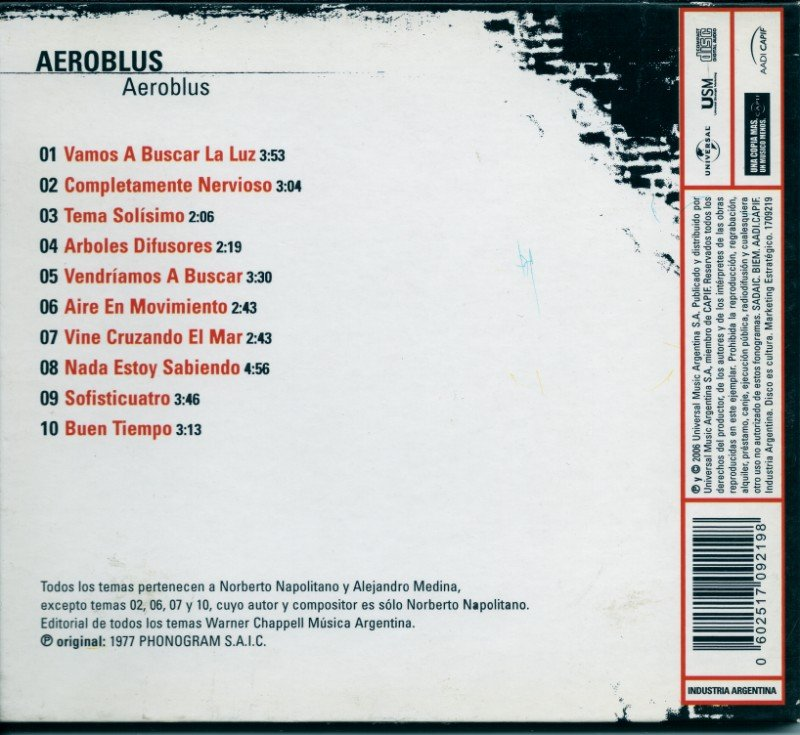 Aeroblus - Aeroblus (1977) (Remastered, Digipack, 2006) Lossless