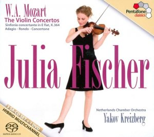 Julia Fischer & Netherlands Chamber Orchestra Conducted By Yakov Kreizberg - W.A. Mozart: The Violin Concertos [3SACD+1DVD ISO] (2011)