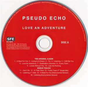 Pseudo Echo - Love An Adventure (2CD Expanded Edition) (1987) [2018]