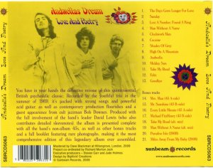 Andwellas Dream - Love And Poetry (1969) [2009]