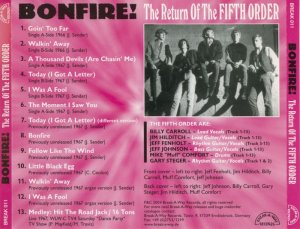 The Fifth Order – Bonfire! The Return Of The Fifth Order (1966-67) (2004)