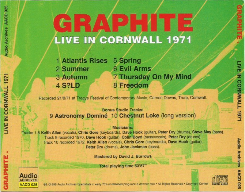 Graphite - Live In Cornwall (1971) (1998) » Lossless music