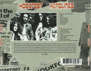 Hookfoot - Headlines (1975) [Remastered, 2016] 2CD