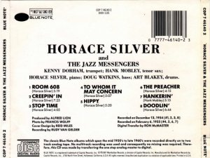 Horace Silver - Horace Silver And The Jazz Messengers (1955) (Reissue, 1987)