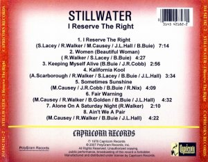 Stillwater - I Reserve The Right (1978) (Remastered, 2007)