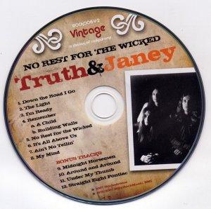 Truth and Janey - No Rest for the Wicked (1976) Remastered (2007)